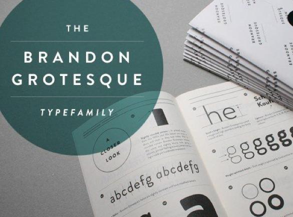 Brandon Grotesque | Les meilleures police pour vos affiches