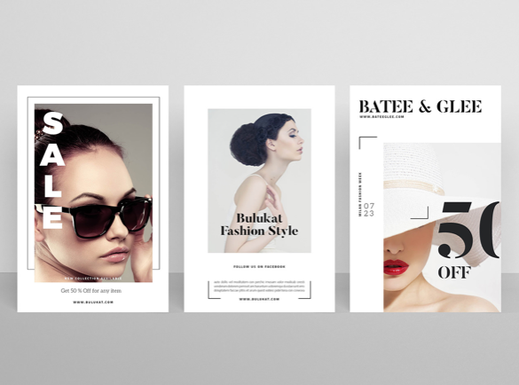 1. Le minimalisme | 9 idées de flyers pour vous aider à démarrer