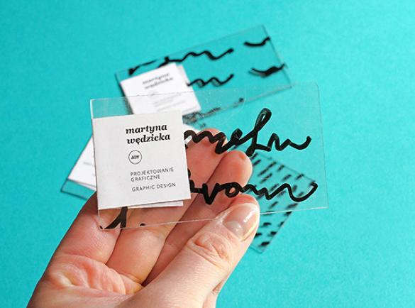 3. Transparence   9 Bons exemples de Cartes de visites