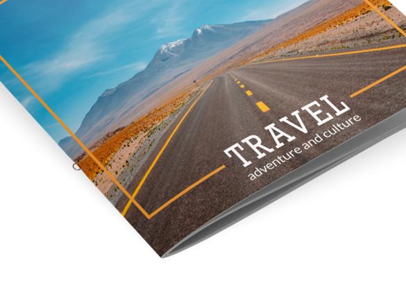 Les reliures pour votre brochure : Explication | Reliure cousue à agrafe boucle