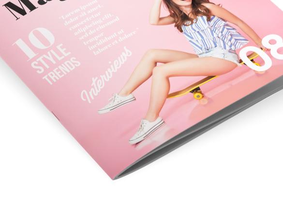 Les reliures pour votre brochure : Explication | Reliure agrafée