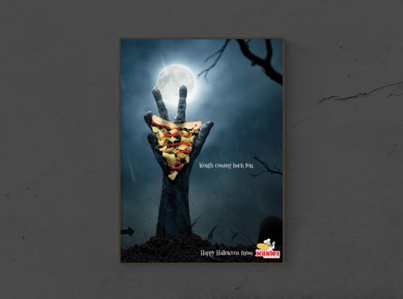 7 Publicités imprimées d'Halloween effrayantes | 5. Le délice du Cimetière